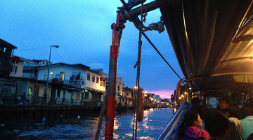 bangkok khlong boat sunset