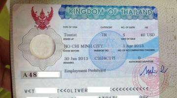 vietnam saigon thai visa